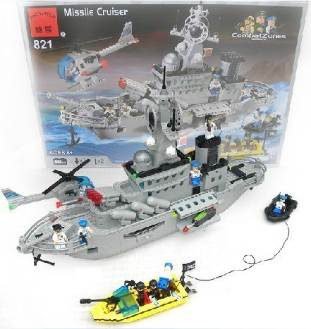 building block set compatible lego military guided missile Cruisers 3D Construction Brick Educational Hobbies Toys Kids