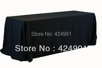 """5pcs Black  Rectangle Table Cloth 90""""x132""""  ,Polyester Plain Table cloth For Weddings Event &Hotel&Banquet Decoration"""