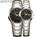 2016 GIMTO Fashion Tungsten Steel Watch Men Women Quartz Wristwatch Waterproof Lovers Watch Clock Reloj Hombre