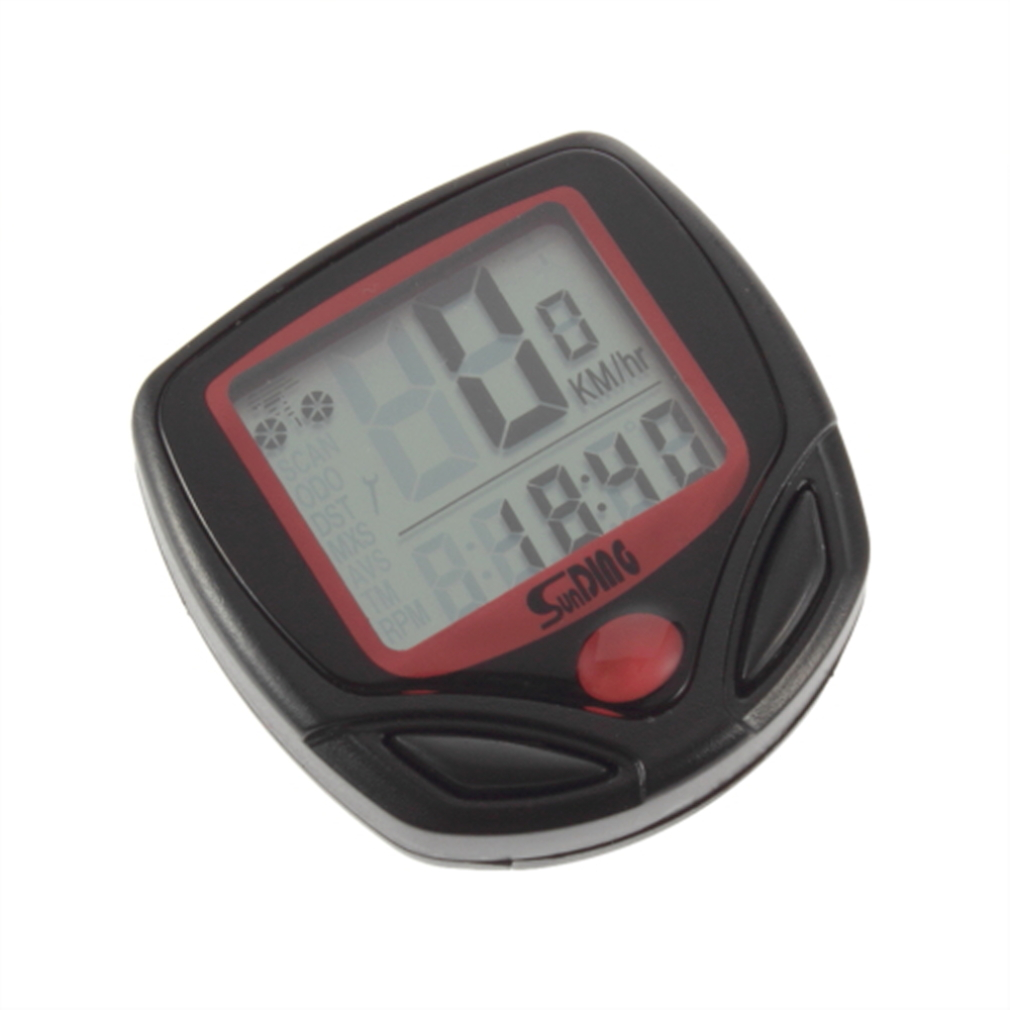 Гаджет   Odometer Bike Meter Speedometer Digital LCD Backlight Bicycle Computer Clock Stopwatch  2425# None Спорт и развлечения