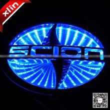 High quality 3D Toyota logo Scion Car LED rear emblem decorative light auto badge lamp(China (Mainland))