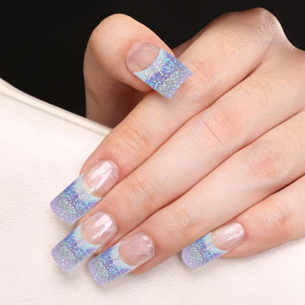 How to apply fake french tip nails – Great photo blog about manicure ...