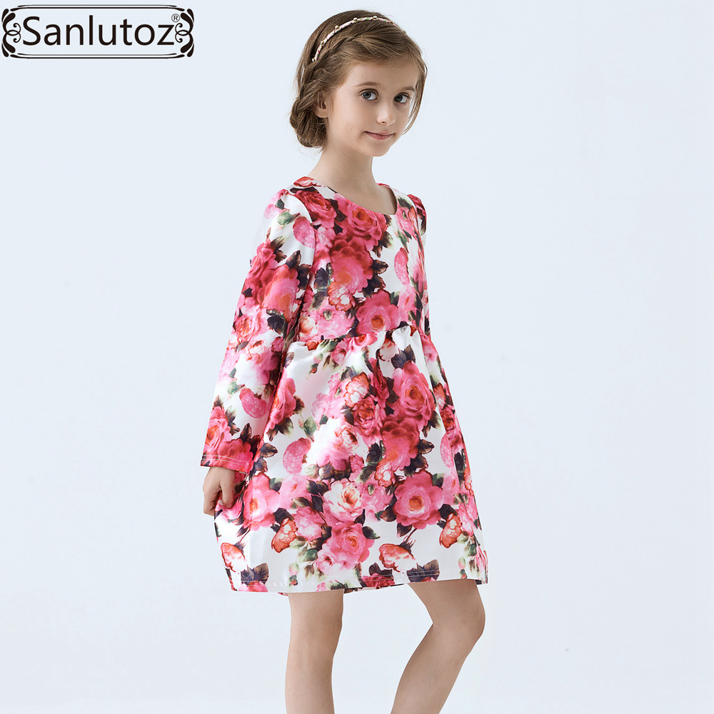 1fad05ae0 Girls Dress Winter Children Clothing Brand Kids Clothes Party Flower ...