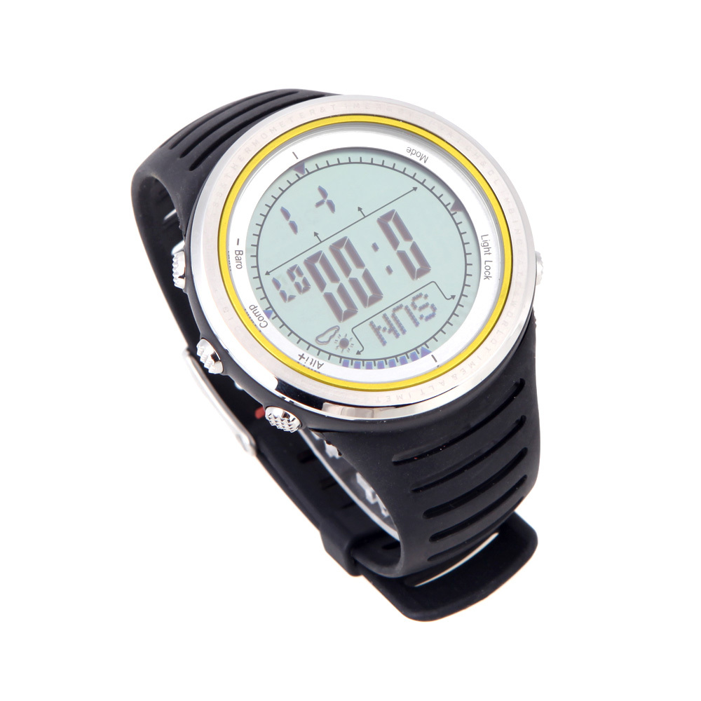 Sunroad FR802A 5ATM Waterproof Altimeter Compass Stopwatch Fishing Barometer Pedometer Outdoor Sports Watch Multifunction(China (Mainland))