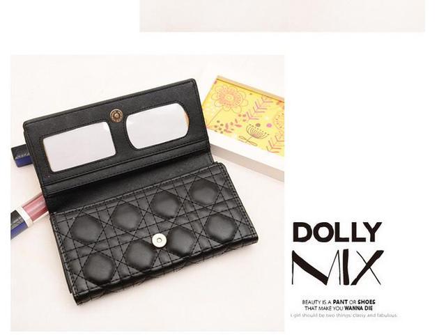 2016 женщин бумажник бренд кошелек мешок повелительницы pu кожаные долго бумажник женщины телячьей кожи Кошельки d