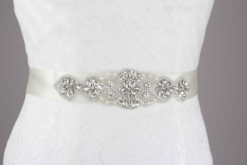 pearl belt beading rhinestone marriage bridal sash wedding