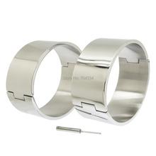 80MM high quality polished shiny stainless steel locking slave ankle cuffs sex restraints bondage toys bdsm