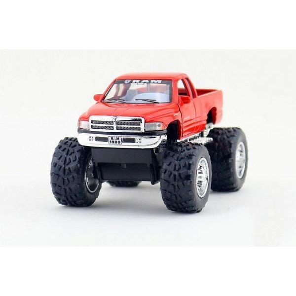 Children Kids Kinsmart Dodge Ram Big Foot Off Road Model Truck 1:44 KT5338 5inch Diecast Metal Alloy Cars Toy Pull Back Gift(China (Mainland))