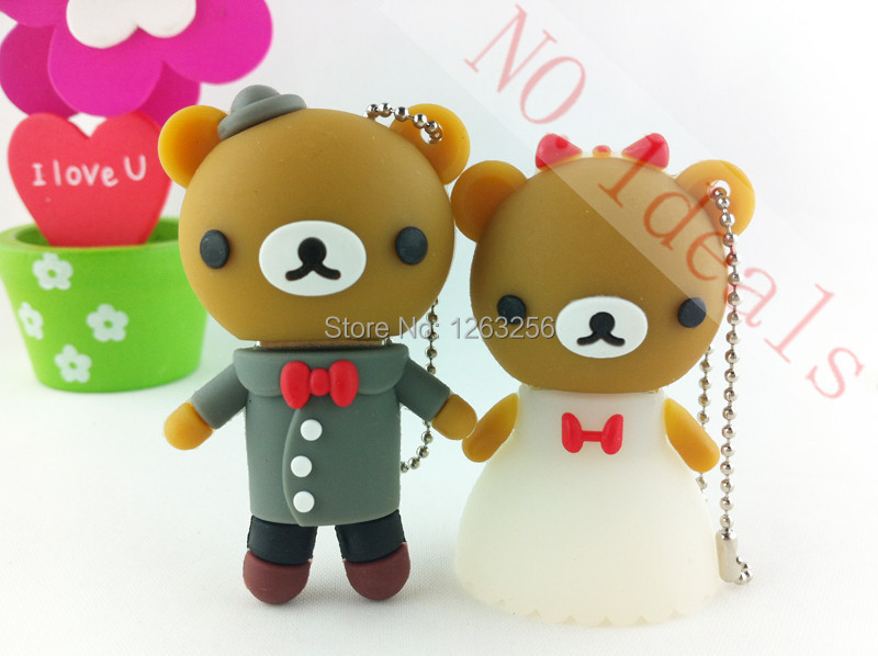 usb flash memory flashdrive 64gb 32 gb 8g usb flash card Wedding Bear 16 gb pen drive gifts(China (Mainland))