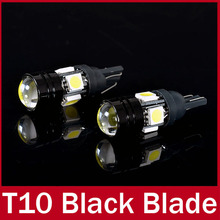 1 Pair DC 12V White Aluminum Case T10 2.5W 180LM 4 SMD 5050 LED Auto Car Light High Power Car LED Lamp(China (Mainland))