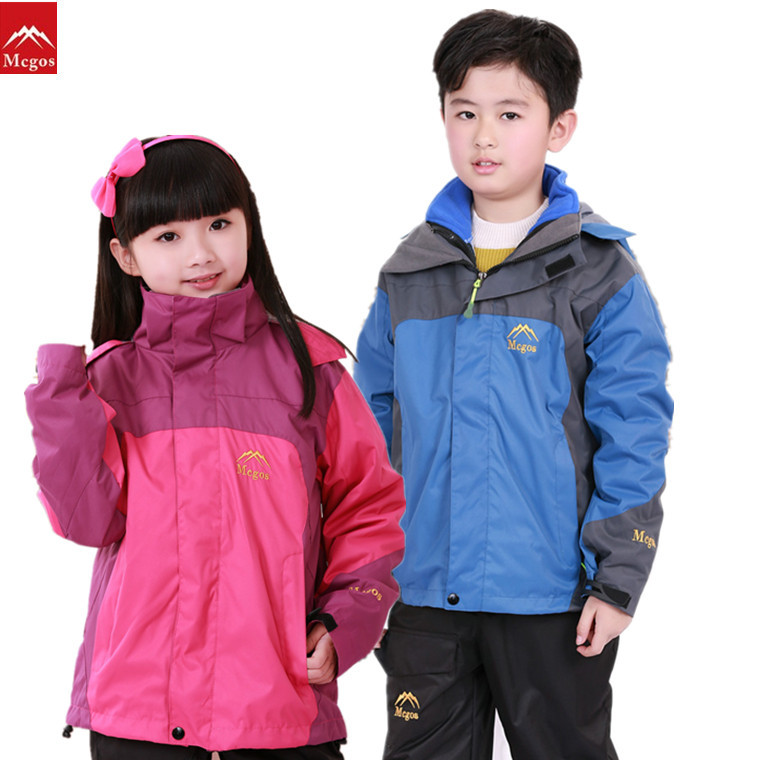 Outdoor Windproof Camping Jacket Kids 2 Pieces Sport Fishing&Hunting Clothes Softshell Fleece Climbing&Hiking Jackets Girls&Boys(China (Mainland))
