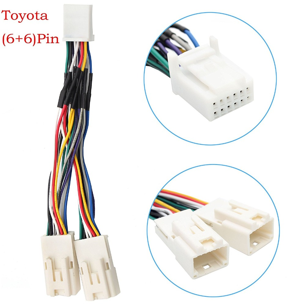 toyota wiring harness connectors promotion shop for promotional y cable radio wiring harness for usb adapter cd changer navigation device fit for toyota 6 6 pin 2003 2014 camry corolla