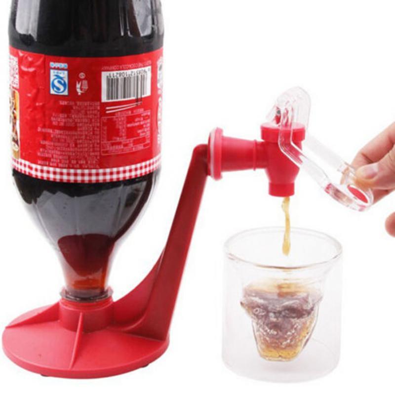 Creative Mini Upside Down Drinking Fountain Coke Soda Beverage Dispenser Switch Hand Pressure Faucet Drinking Fountain -PH(China (Mainland))