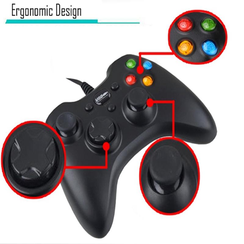 ファッション新しい有線usb コントローラー ゲーム パッド ジョイスティックジョイパッド用pc コンピュータ の ノート パソコン ゲーム黒