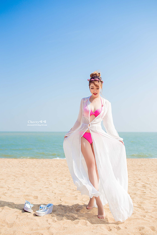 2015 Hot Sales New Long white Perspective Chiffon Beach Sun Cover Ball Gown Prom Bridesmaid dress summer(China (Mainland))