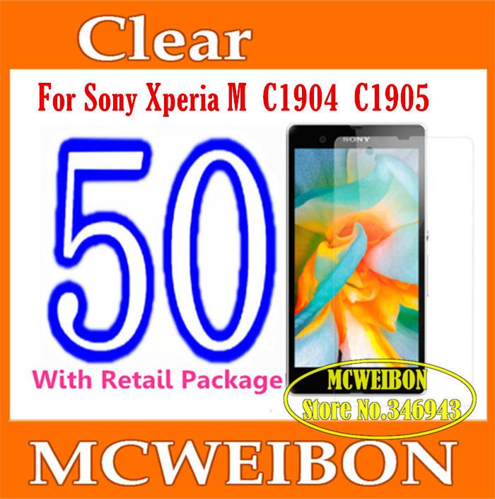 Защитная пленка для мобильных телефонов pantalla Sony Xperia C1904 C1905, 50pcs/lot защитная пленка для мобильных телефонов sony xperia z3 z3