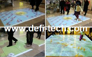 Interactive floor system for for Digital signage,You can change your own logo, picture, video, audio(China (Mainland))