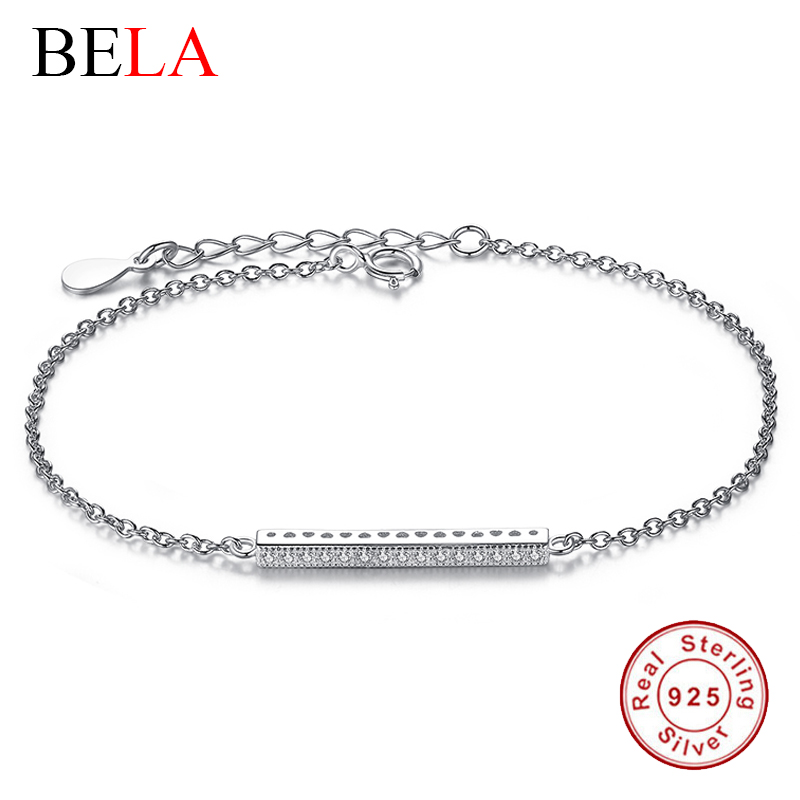 Authentic 925 Sterling Silver CZ Diamond Micro Pave Hand Chain Bracelets For Women fit Original Imitation Jewelry Wedding(China (Mainland))