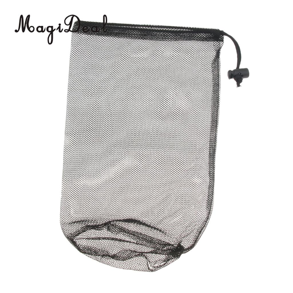 Polyester Mesh Bag, Drawstring Pouch, Lightweight Portable Stuff Sack for Laundry, Gym Clothes, Swimming, Camping, Hiking