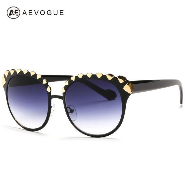 Aevogue алмаз графический украшения новейший бренд солнцезащитных очков женщин сплава кадр урожай оттенки солнцезащитные очки óculos UV400 AE0255