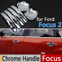 Ford Focus 2 Luxurious Chrome Door Handle Covers Accessories Stickers Car Styling Mk2 Mk2.5 2005-2010 Sedan Hatchback - Langens Club store