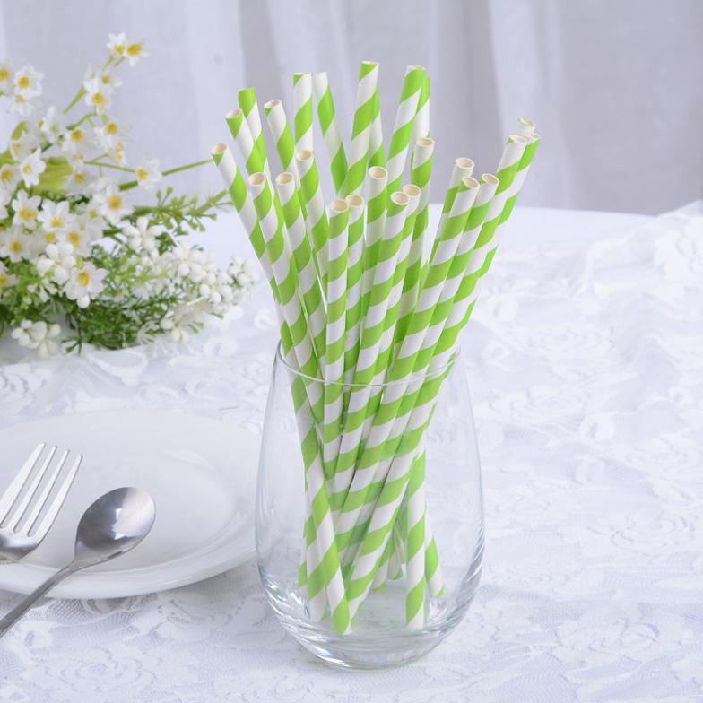 Random Delivery Paper Straw Manufacturer Food Grade Party Stripy Paper Wrapped Straws(China (Mainland))