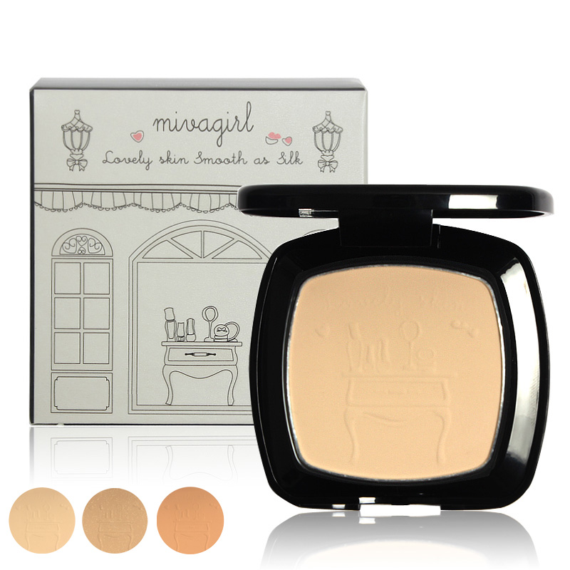 Mivagirl Brand Face Powder Make Up Pressed Powders Fabulous Cosmetics Palette Makeup Cake With Puff MW001(China (Mainland))