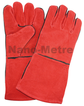 NMSAFETY 1 Pairs safety welding gloves heat insulation gloves cowhide welding gloves,free shipping