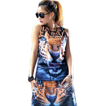 "O-Neck Women Summer Vest Fashion Style Good Quality Free SIze Tiger Prints Cool Looking Tank Tops Special Design Slim Elastic ""Free Shipping"""