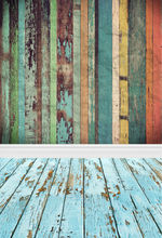 Background For Photographic Studio Photo Backdrops Retro Wood Paint Chips Of Wood Floor For Baby Photos