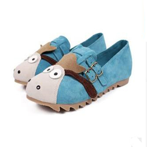 Moe Donkey Eleusine Indica Shoes College Wind 2015 Matte Leather Single Shoes Belt Buckle Car Suture Mixed Colors Flat Call Shoe(China (Mainland))