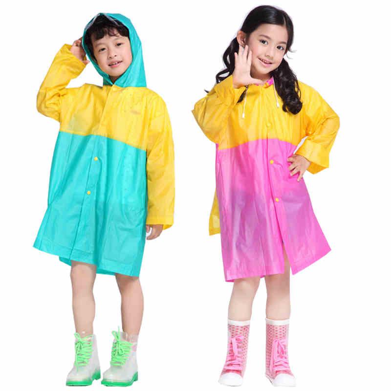 Rain Poncho Plastic Raincoat Kids Rainwear Sets Cloak Cape De Pluie PVC Regenmantel Waterproof Raincoat For Children Boy 703600(China (Mainland))
