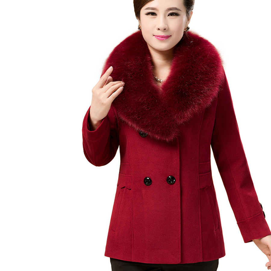 Women Ladies Autumn Winter Warm Slim Coat Fur collar Long Sleeve Solid Outerwear  Overcoat Jacket Clothes Fashion Brand Tops NewОдежда и ак�е��уары<br><br><br>Aliexpress