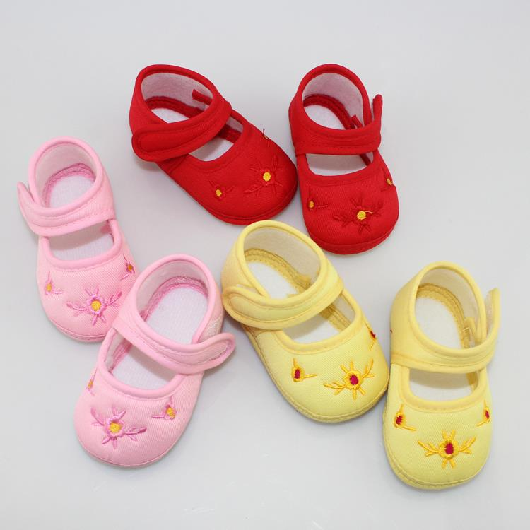 2016 Promotion Baby Shoes Kids Cotton First Walkers Skid Proof Sapato Infantil Baby Girls Shoes Boys