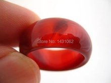 Beautiful natural The lucky red agate ring breadth men ring size10# Sa-073(China (Mainland))