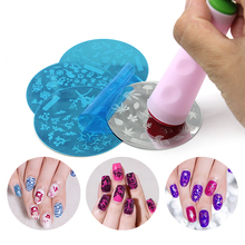 Free Shipping Nail Art DIY 2 Side nail Stamping Stamp Tools Scraping Knife Set Nail Stamp