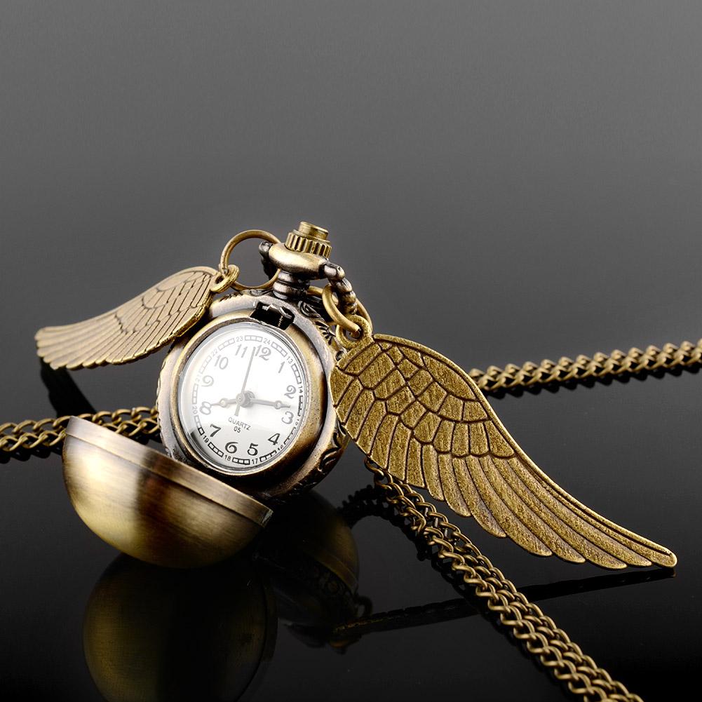 Гаджет  Antique Retro Vintage Copper Ball Angel Wings Thick Pendant necklace Pocket Watch Metal Ball Pendant None Часы