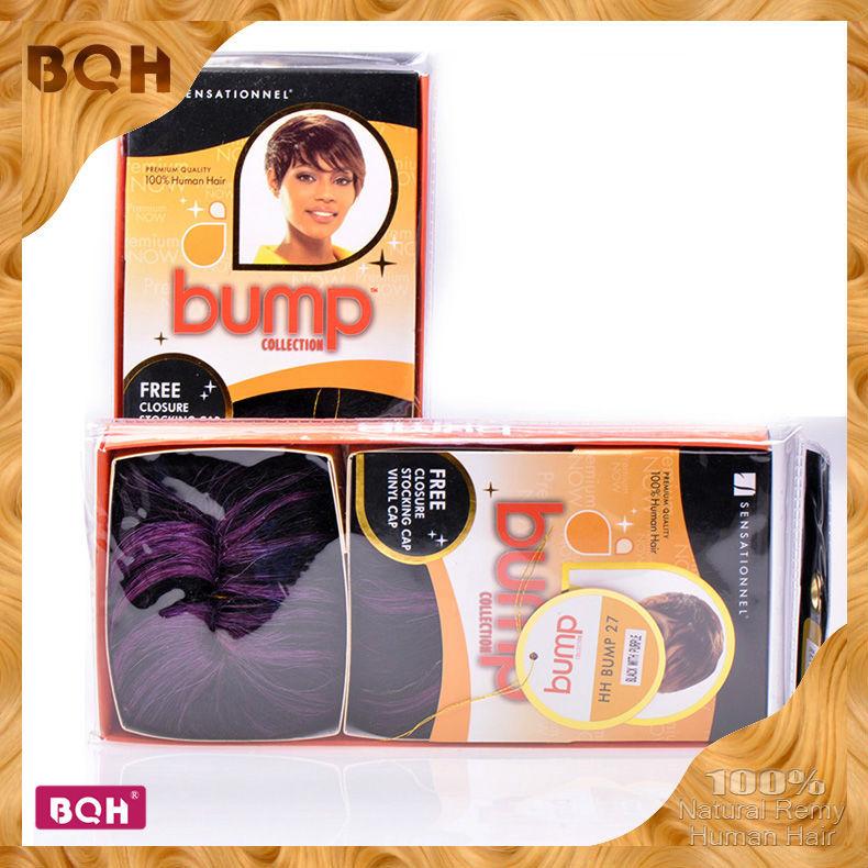 Bump hair extensions humano hair weaving Free Closure & Stocking/Shower Cap Sensationnel Bump 27pcs/pack large stock bump weave(China (Mainland))