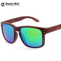nieuwe mode houten zonnebril merk designer mannen mode vierkante outdoor sport zonnebril gafas de sol 11 kleuren oculos masculino