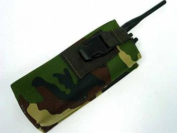 Molle Milspec Radio/Walkie Talkie Pouch Camo Woodland free ship