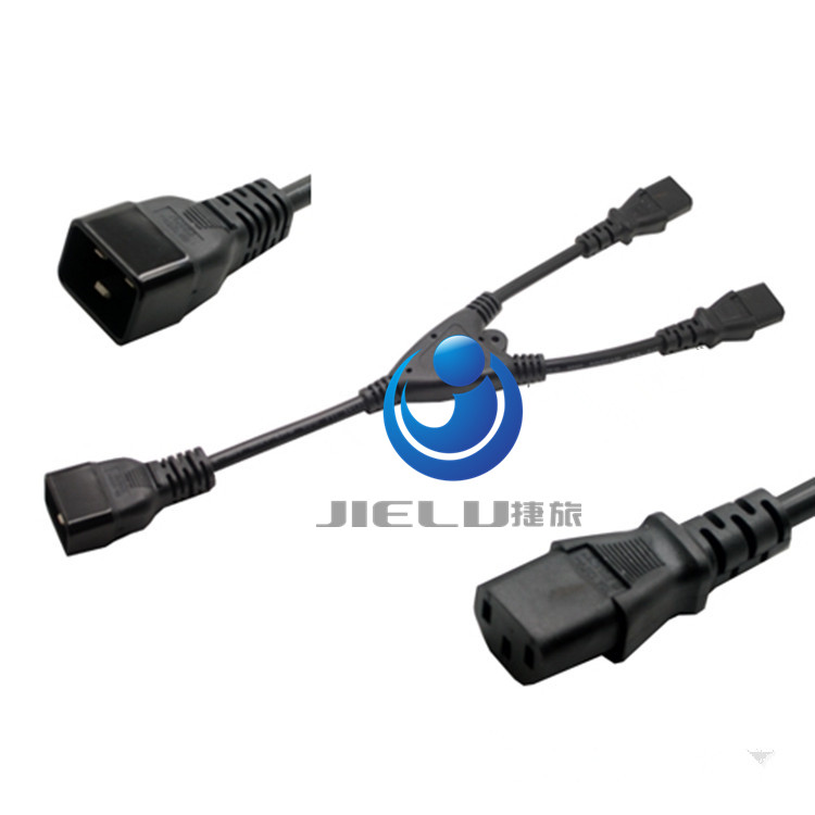 C20 power Splitter Y cable 30cm 1FT AC IEC 320 C20 TO 2XC13