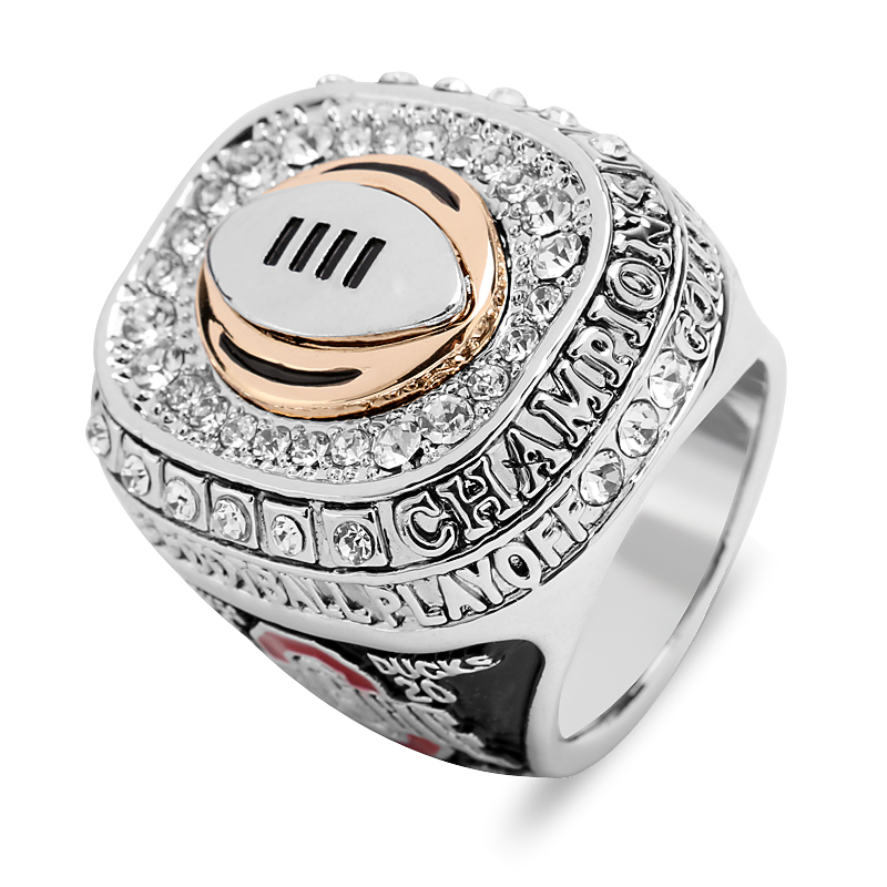 Luxury Crystal Top Grade Ohio State Buckeyes Football Championship Ring Classic 1960 World Series Fans Gothic Men Rings Jewelry(China (Mainland))