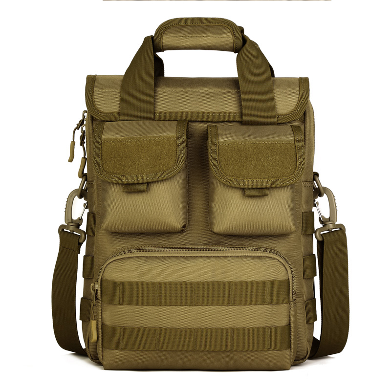 Tactical Outdoor Travel Laptop Tote Men Crossbody Shoulder Hiking Messenger Bag Molle Woodland Sustainment Army Durable  -  New Nande International Trade Co., Ltd store