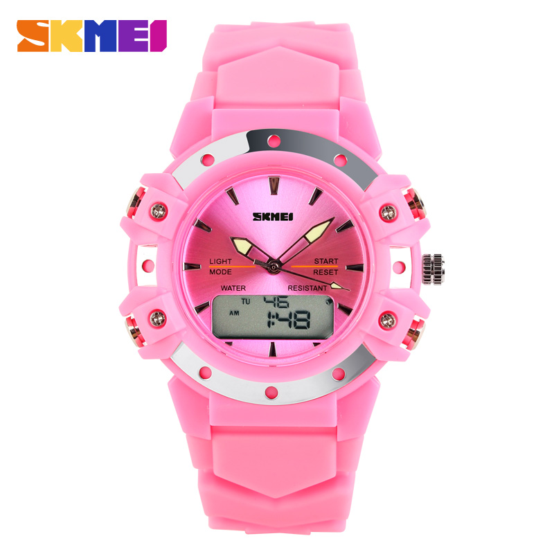 Skmei Dual Time casual digital women/men dress sports jelly military watches Christmas Gift 3AT waterproof Silicon wristwatches(China (Mainland))