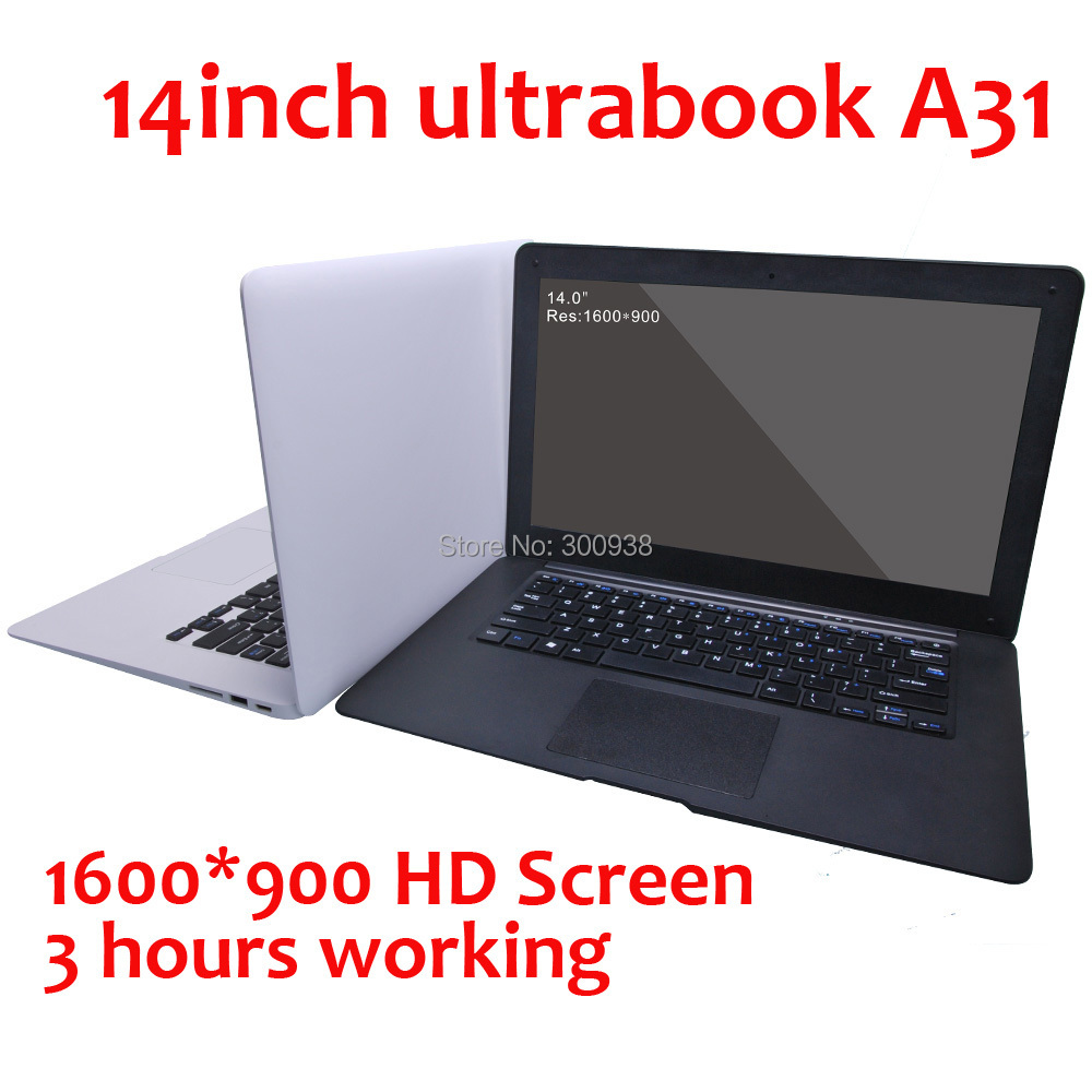 The Cheapest laptop 14 inch Notebook computer 2G RAM 160G HDD 1600*900 Dual Core 3hours 3600mah  Windows 8 laptop free shipping(Hong Kong)