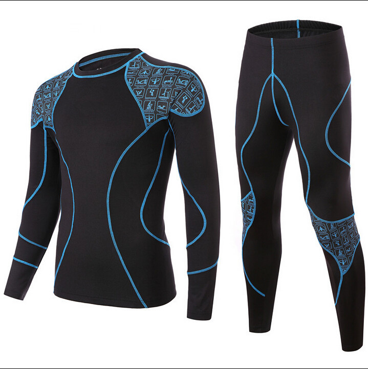 New Thermal Underwear Men Sets Compression Sport Fleece Sweat Quick Drying Thermo