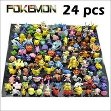 Wholesale Lots 24 pcs Pokemon mini random Pearl Figures New Free Shipping Drop Shipping(China (Mainland))