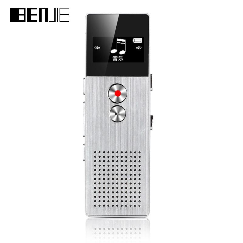 BENJIE BJ-M23 8GB Digital Voice Recorder 20m Professional Audio Recorder Portable One Key Recorder With Loudspeaker 28 languages