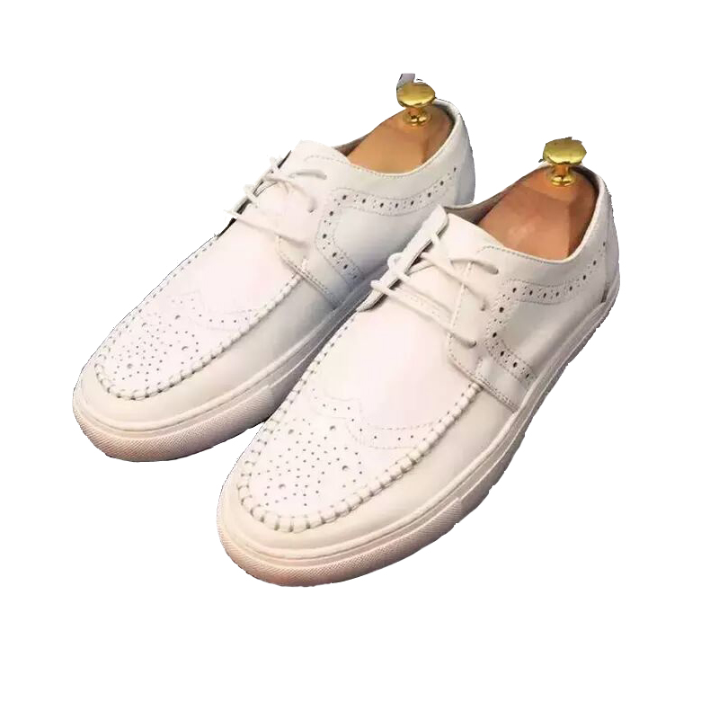 2016 men spring white leather flats men male casual shoes italian versae loafer for men quality brand handmade footwear<br><br>Aliexpress
