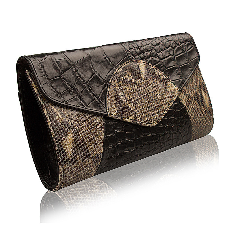 Clutch 2015 new wave of European and American big leather crocodile pattern ladies evening bags imported leather clutch bag(China (Mainland))